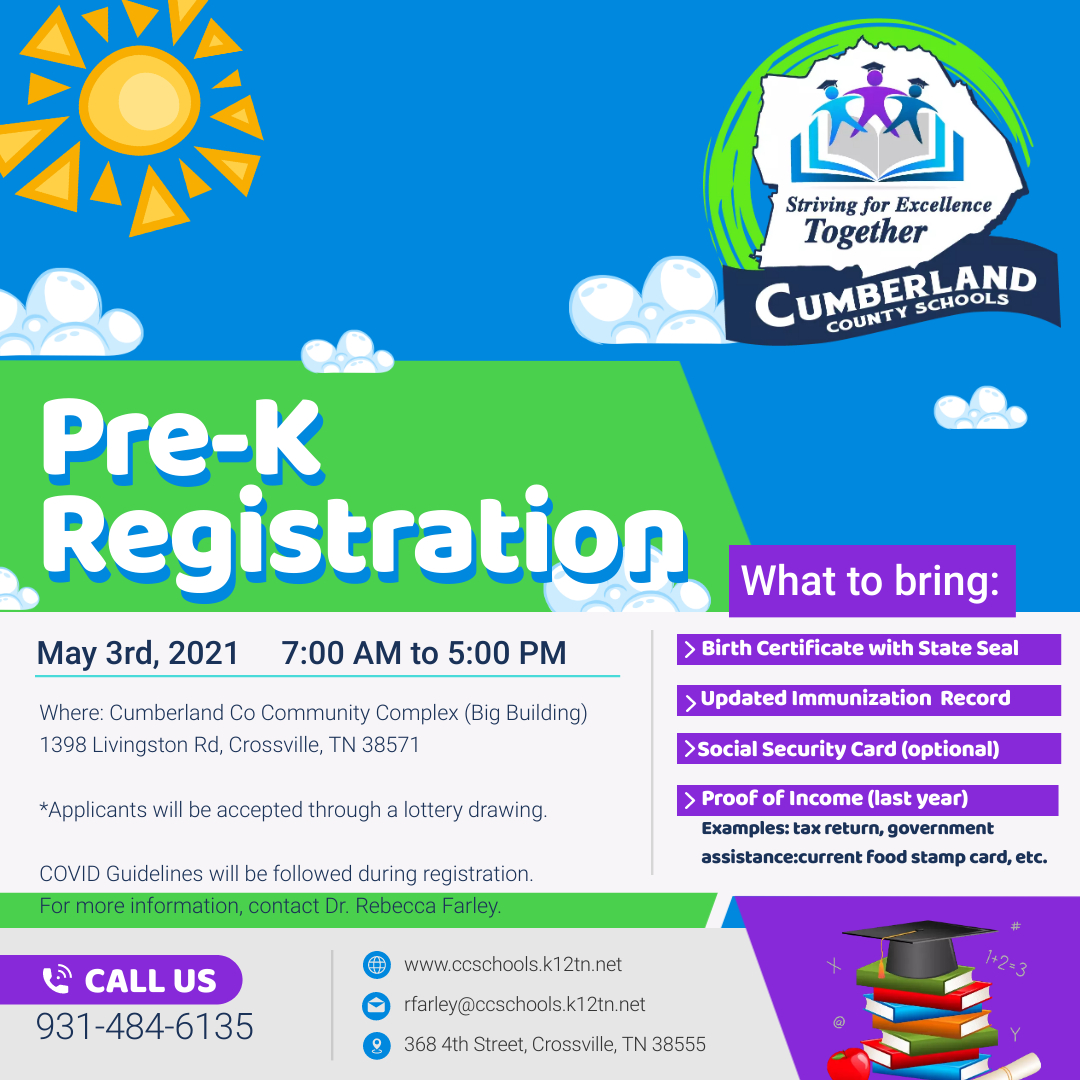 May 2021 PreK, K Registration