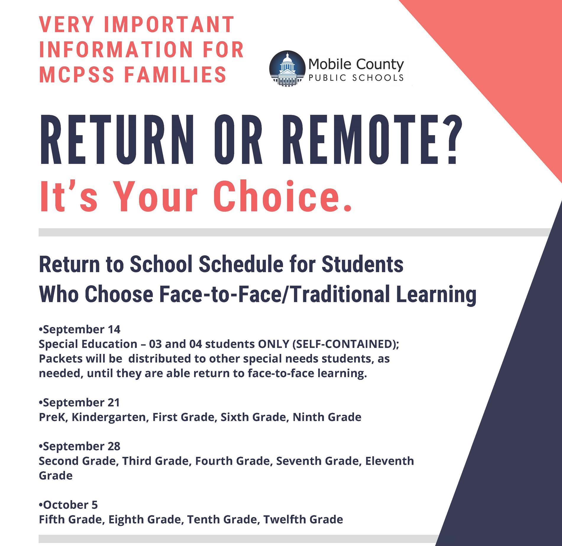Return to school (adjusted)