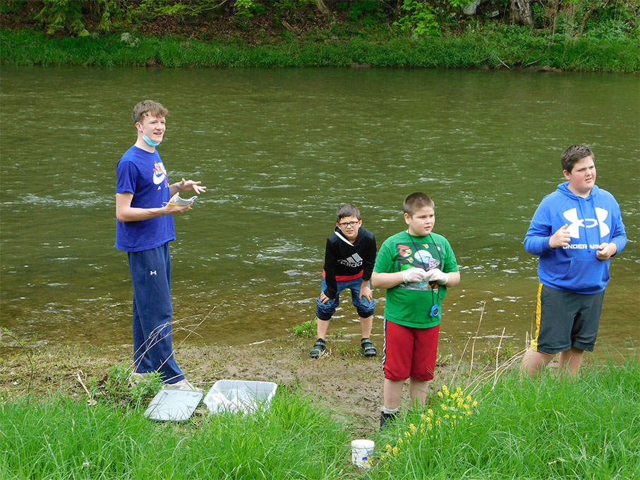 The students also tested the Beaver Creek