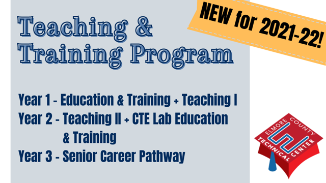 Starting in the 2021-2022 school year, ECTC will offer a Teaching & Training program to prepare those who desire to work in education and learning environments with students in the future.