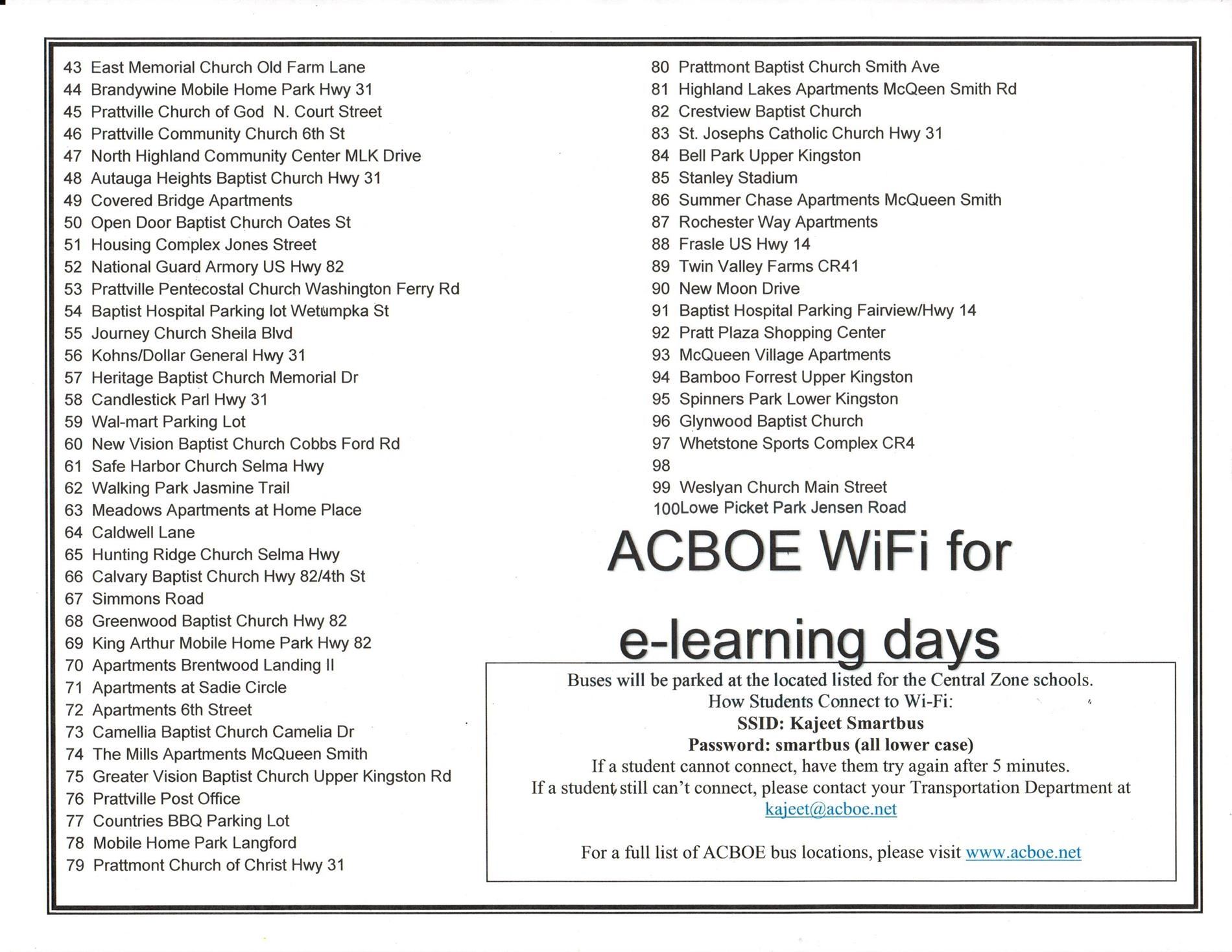 ACBOE Wifi Bus Locations