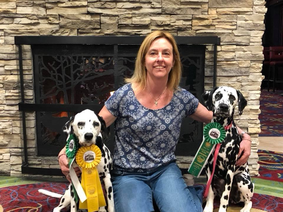 Susan and her dogs