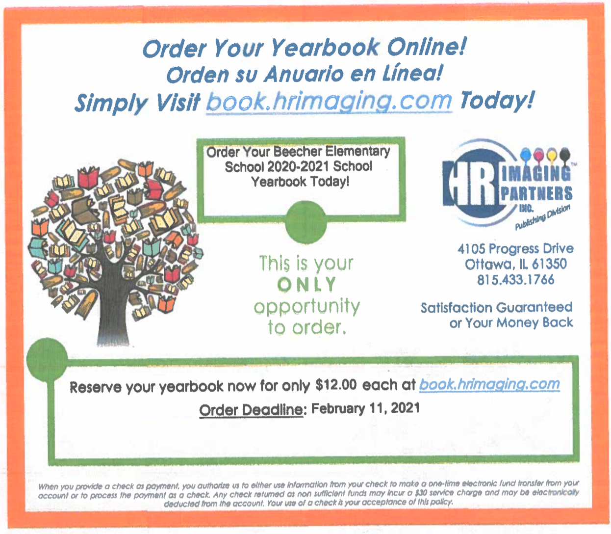 BES Yearbook Order