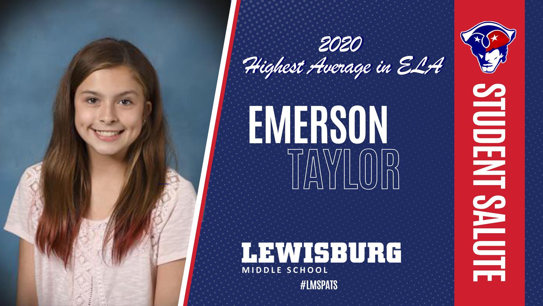 Congrats Emerson!