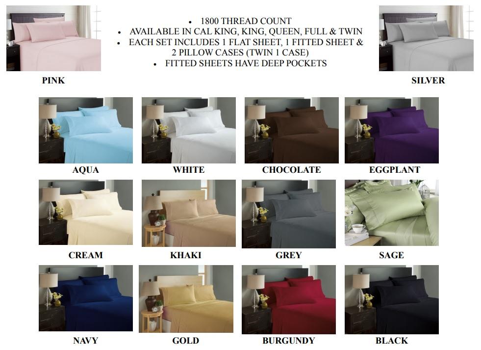 Sheets Colors