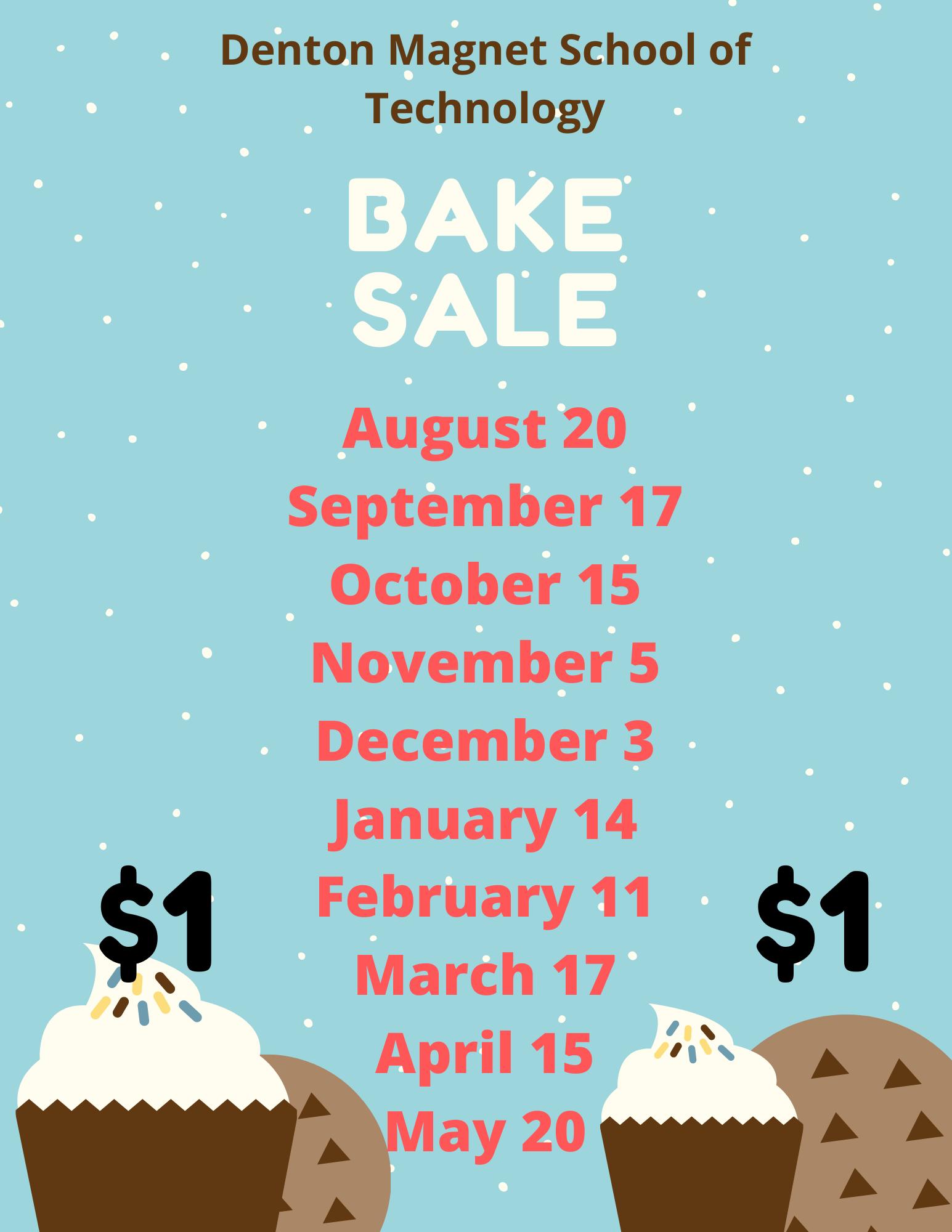 Denton Bake Sale Dates