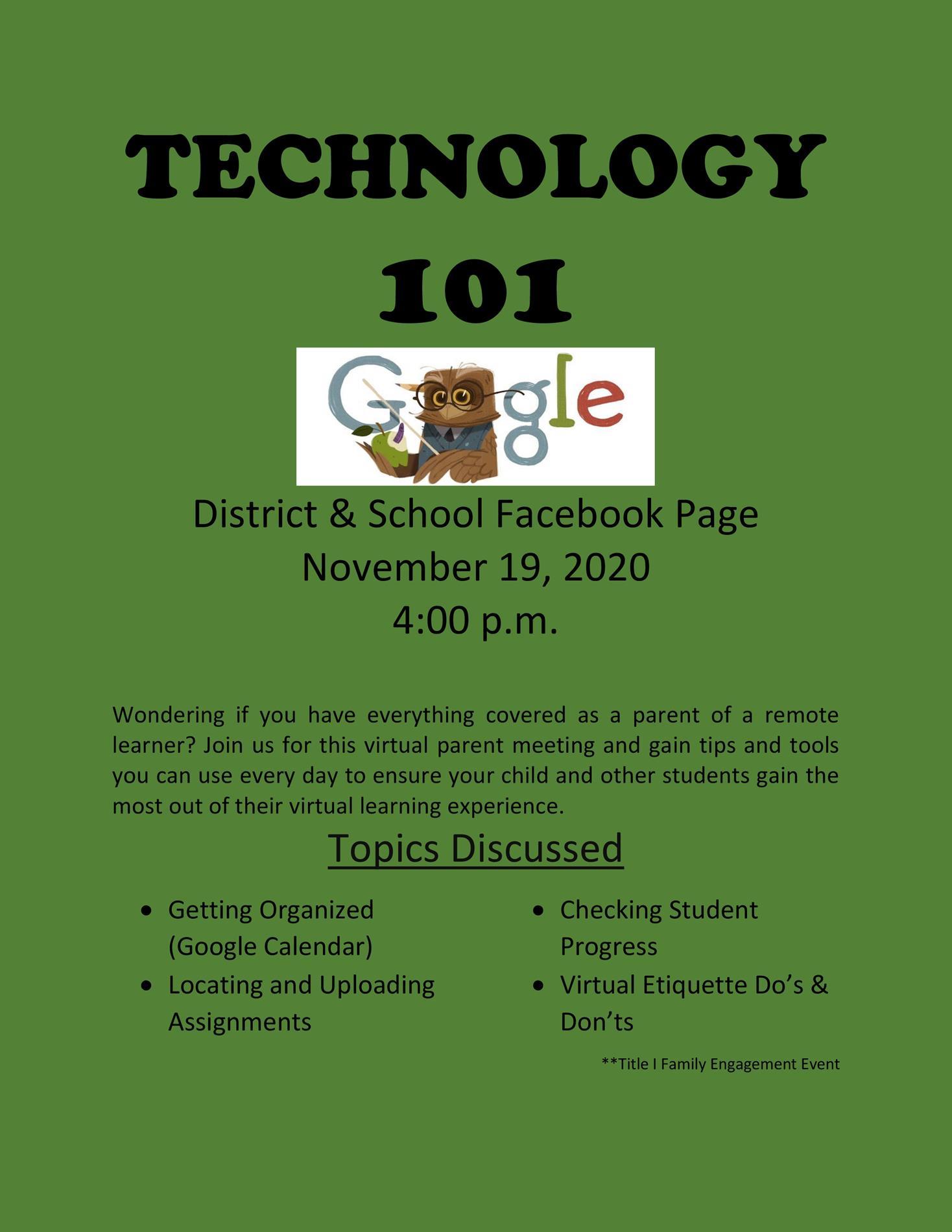Technology Meeting Flyer