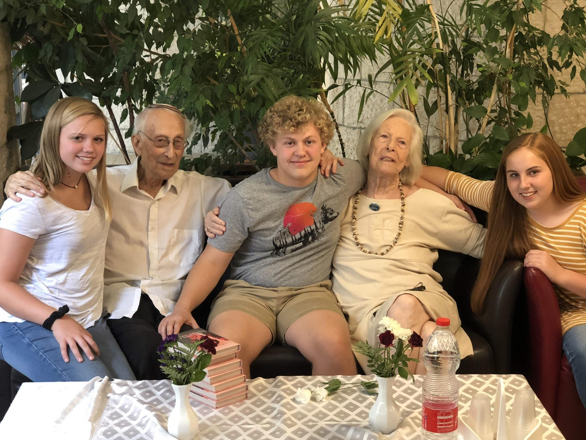 Our students in Israel visiting with survivors