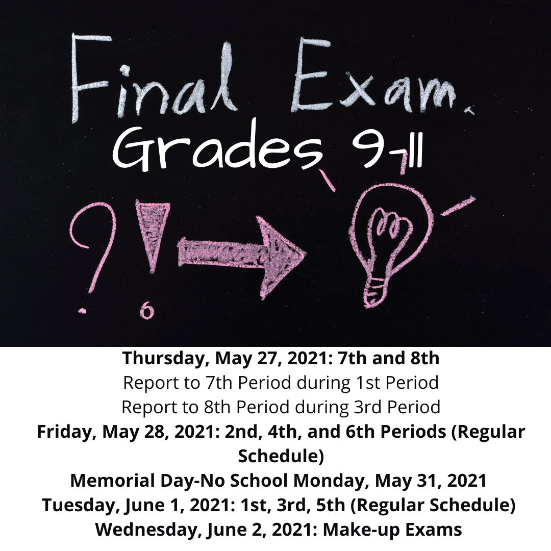 Grades 9-11 Final Exam