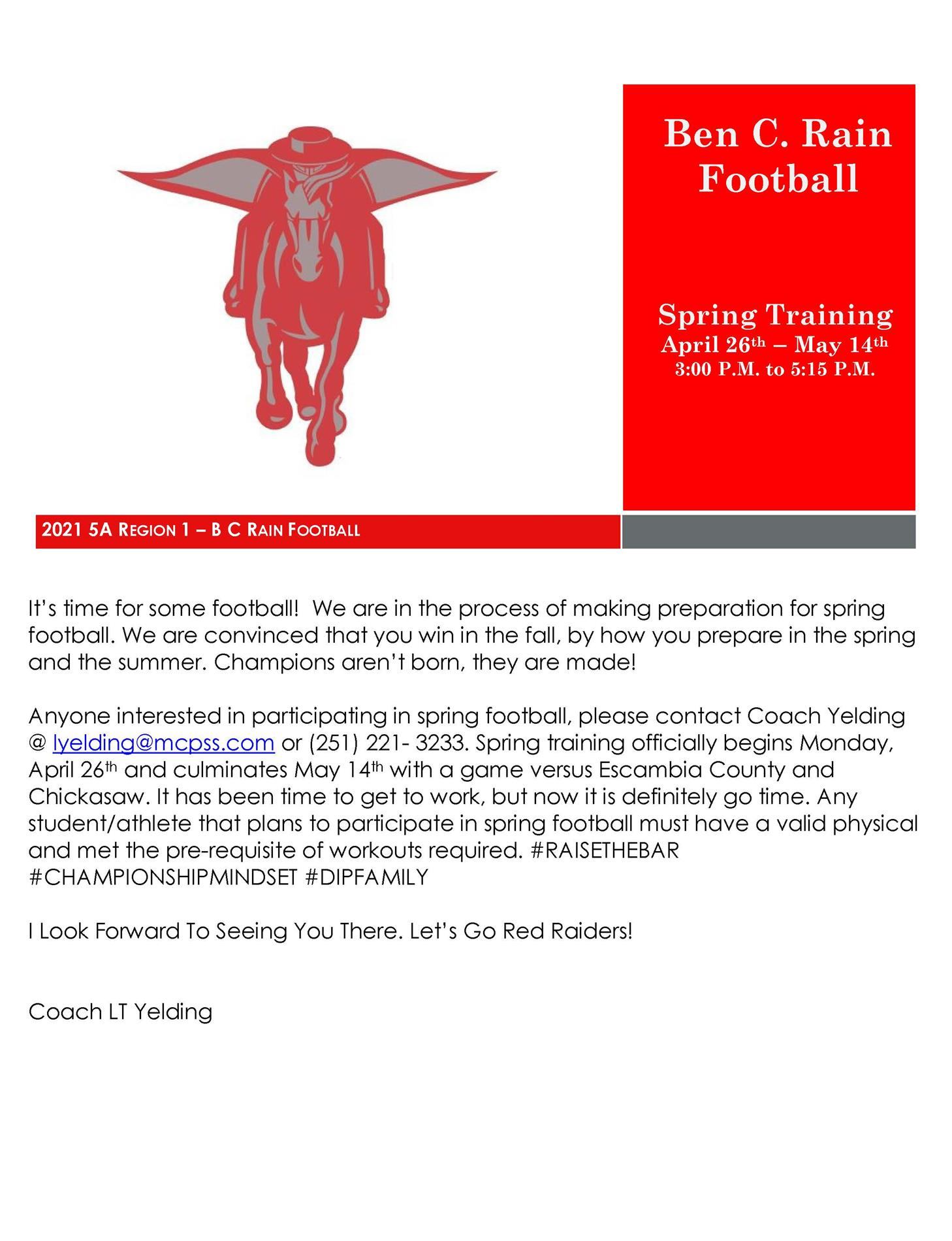 football spring tryouts