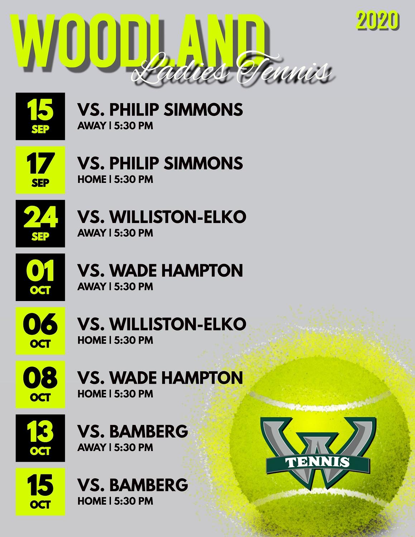 Fall Tennis Schedule