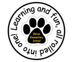 Image of paw print with text around it