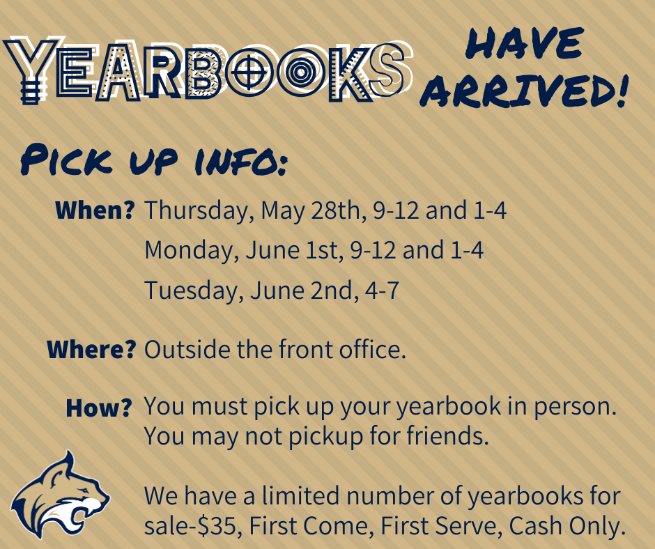 Pickup Times For Yearbooks