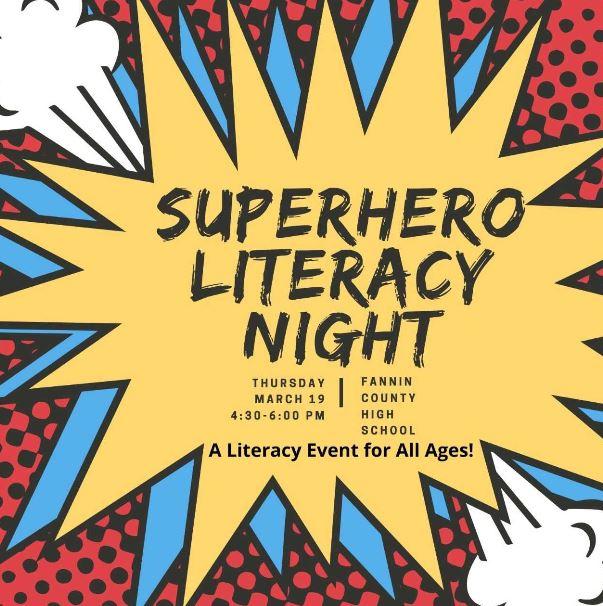 Super Hero Literacy Night