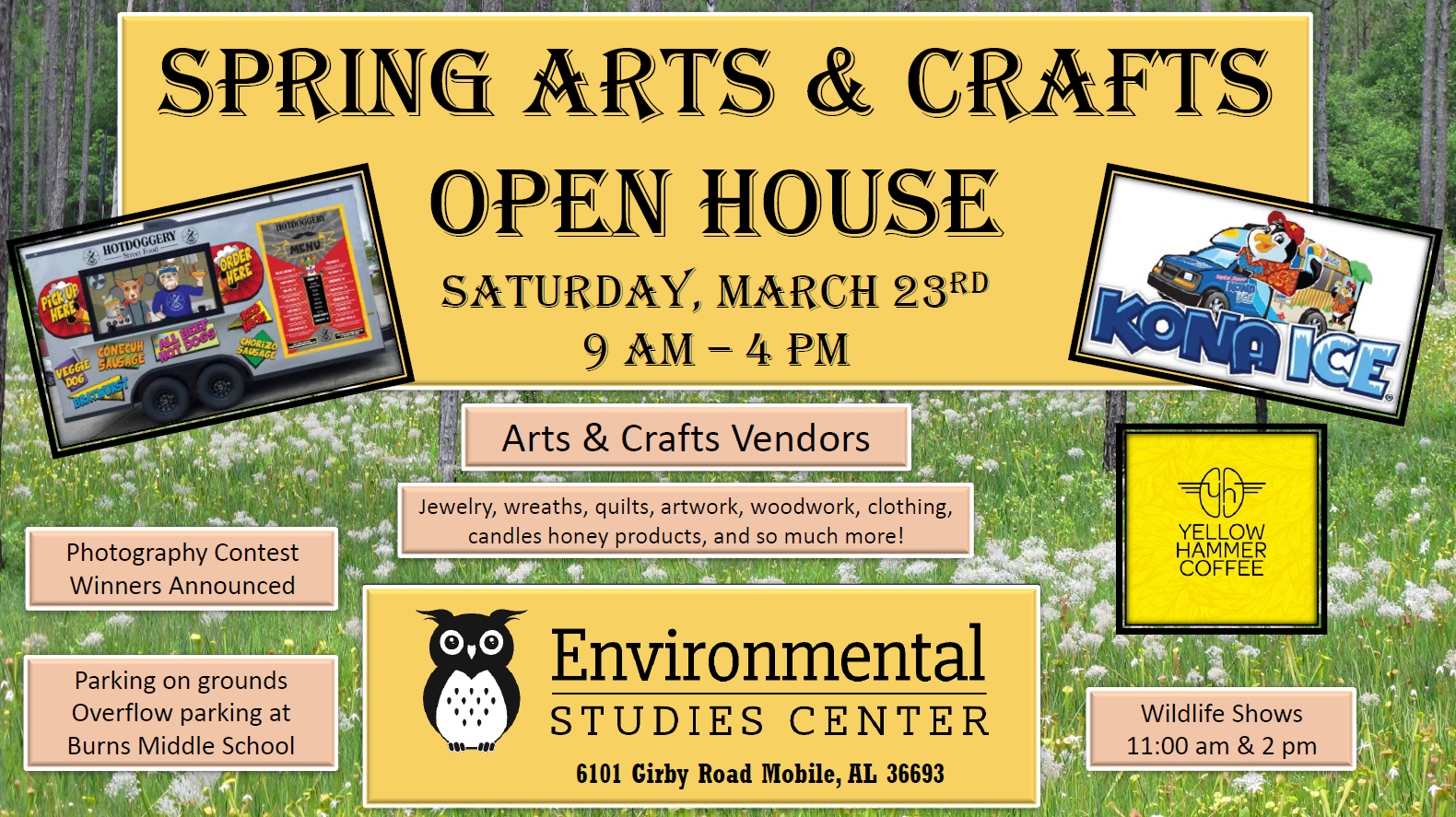Arts and Crafts Open House Flyer