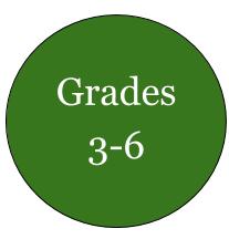 Green circle grades 3-6