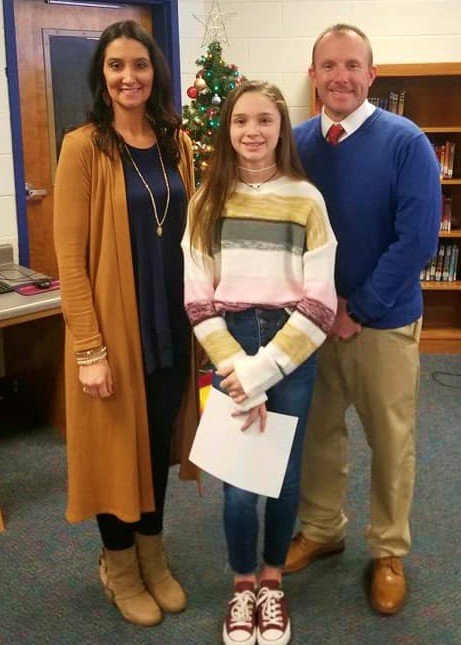 Amelia Wins BSMS Spelling Bee!