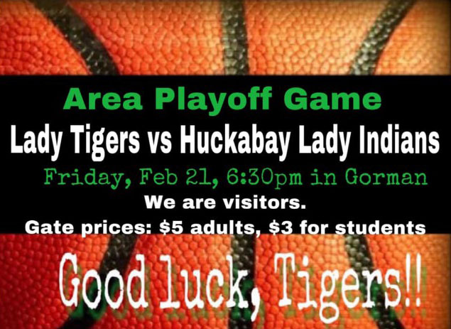 Lady Tigers vs Huckabay