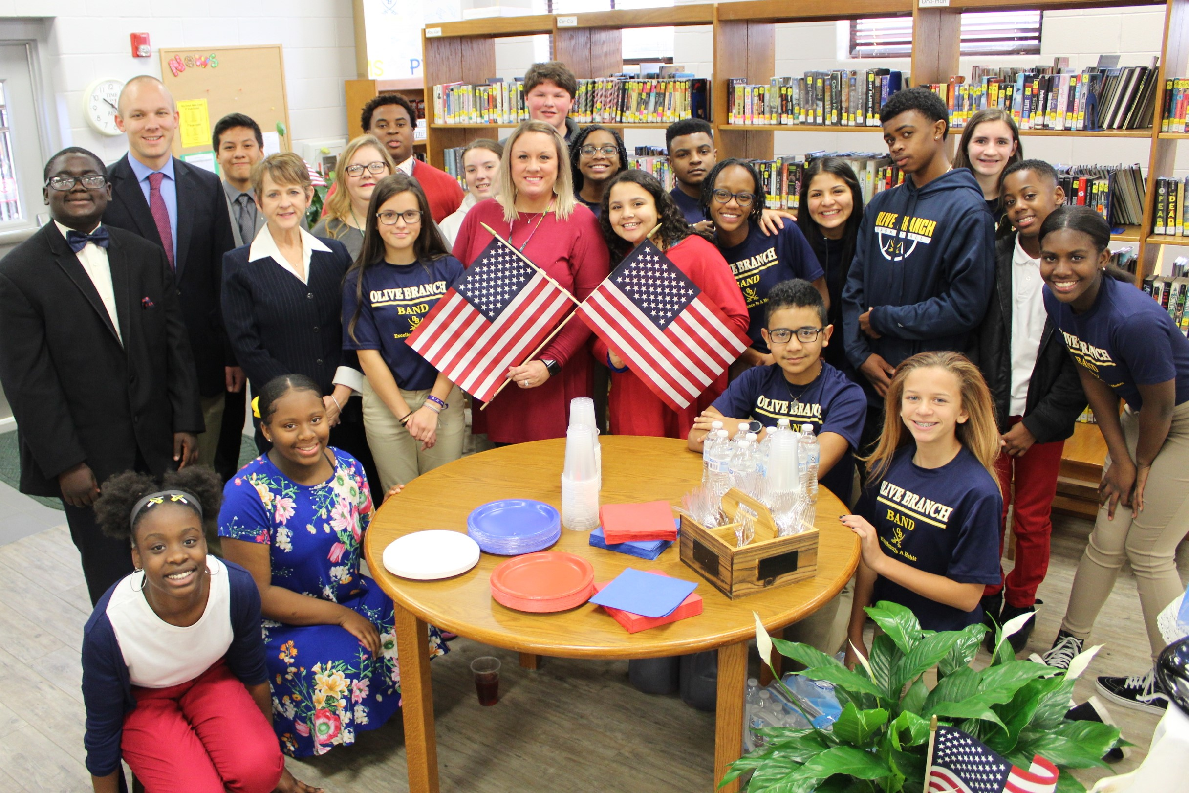 Olive Branch Middle honored Veterans.