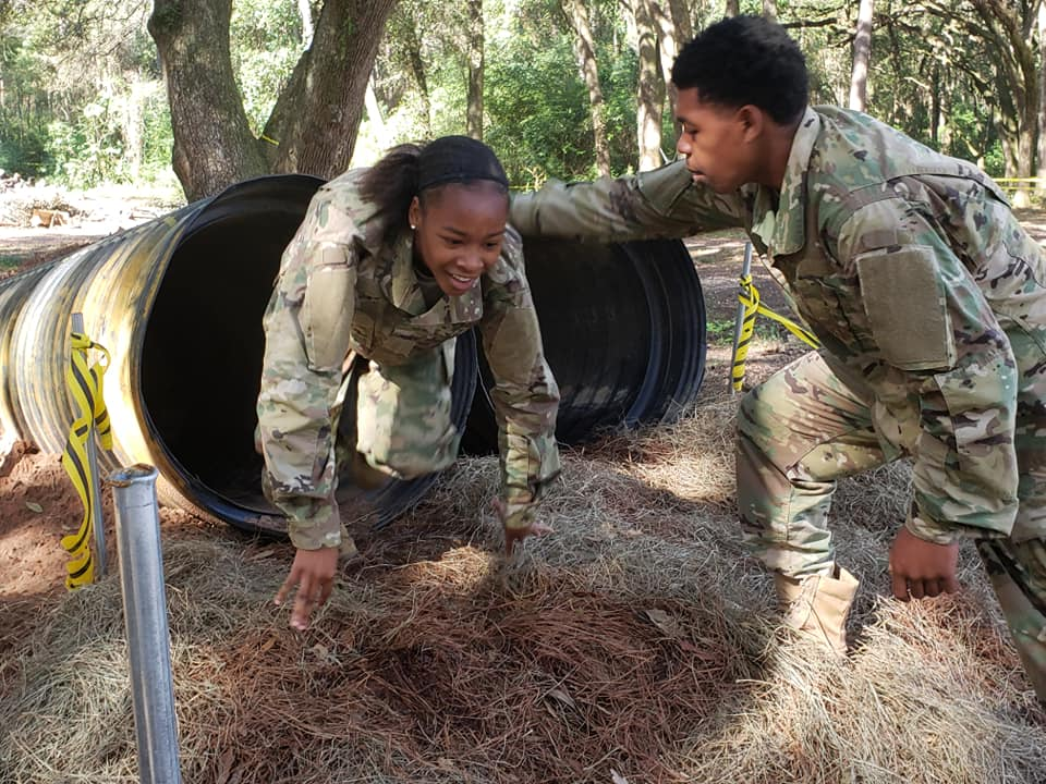 Army JROTC cadets compete in Raider Challenge.