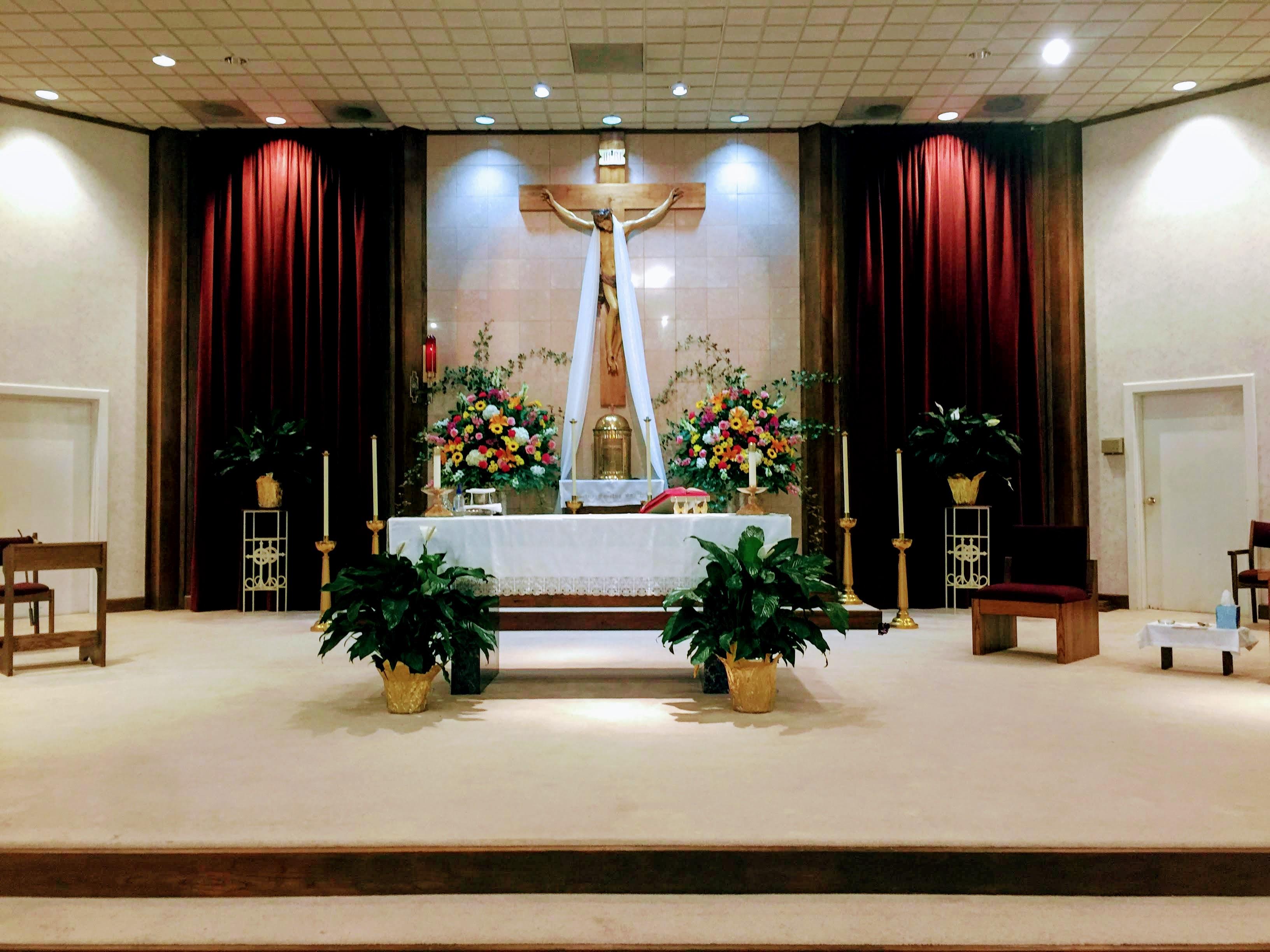 Church sanctuary June 2020