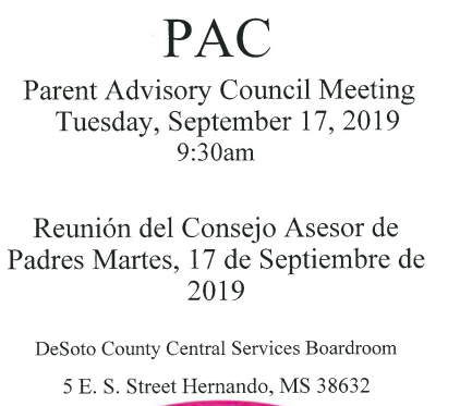 PAC Meeting Details