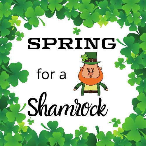 Spring for a Shamrock Logo