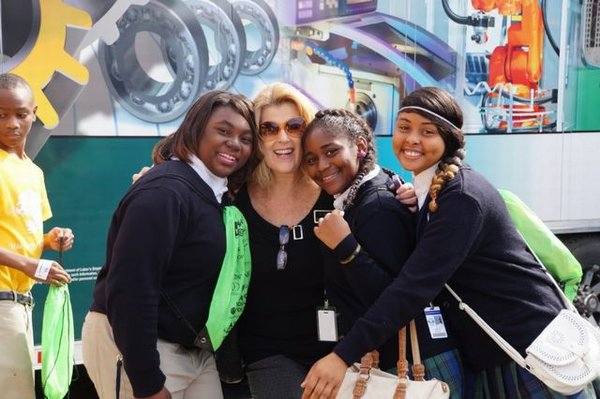 Ms. Goodson with students