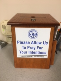 Place your prayers in the box