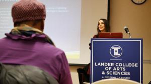 Occupational Therapist Alexa Moses, MS, OTR/L. presenting workshop