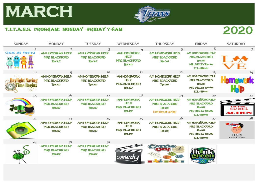 MRHS Calendar
