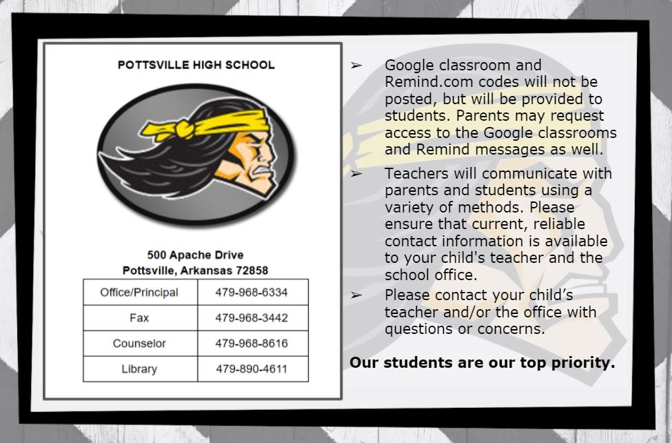 PHS Contact Information