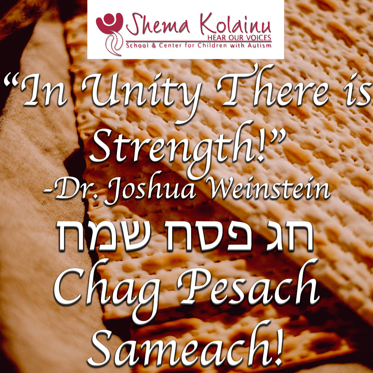 Happy Passover from Everyone at Shema Kolainu - Hear Our Voices