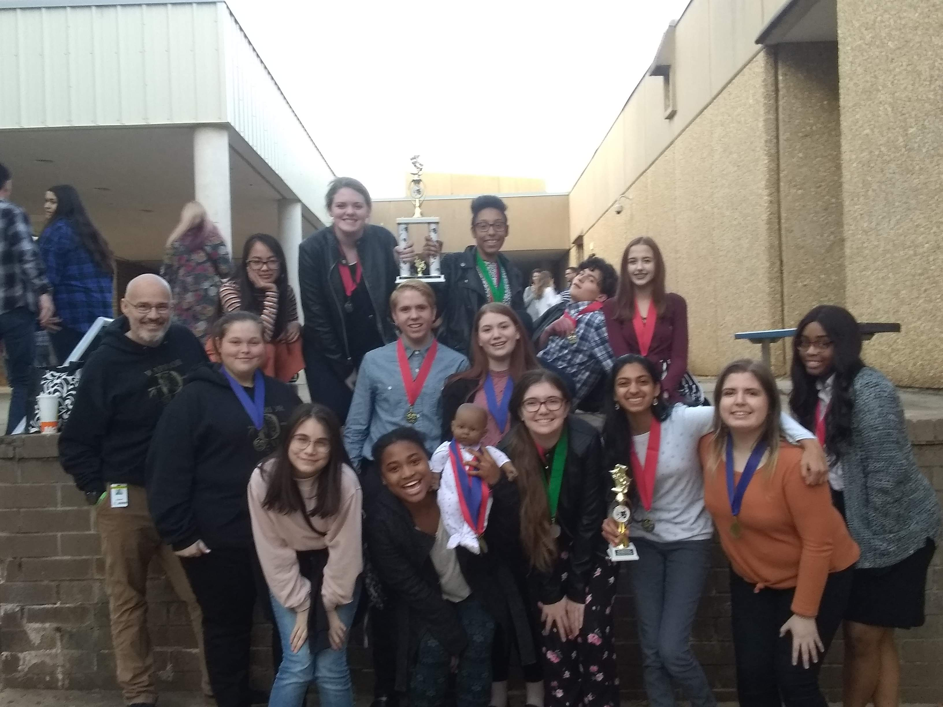 Warrior Theatre students after the awards
