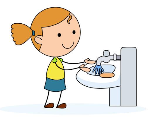 child washing hands clip art