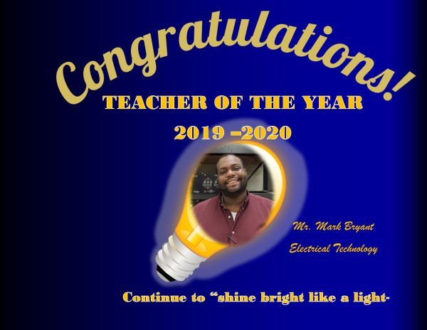 BRYANT TEACHER OF THE YEAR