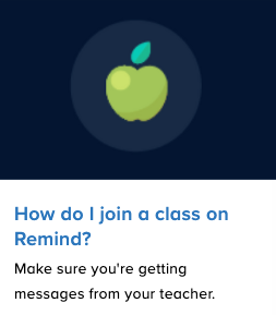 Join a Class - Remind