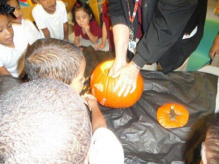 Pre-K Cutting Pumpkins