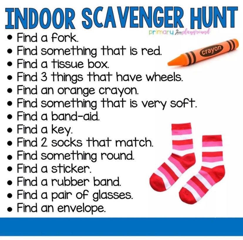 Week 1 Scavenger Hunt- Have Fun!