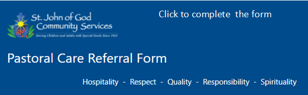 Pastoral Care Referral form