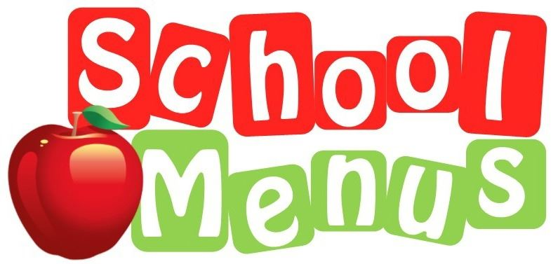 School menus with an apple