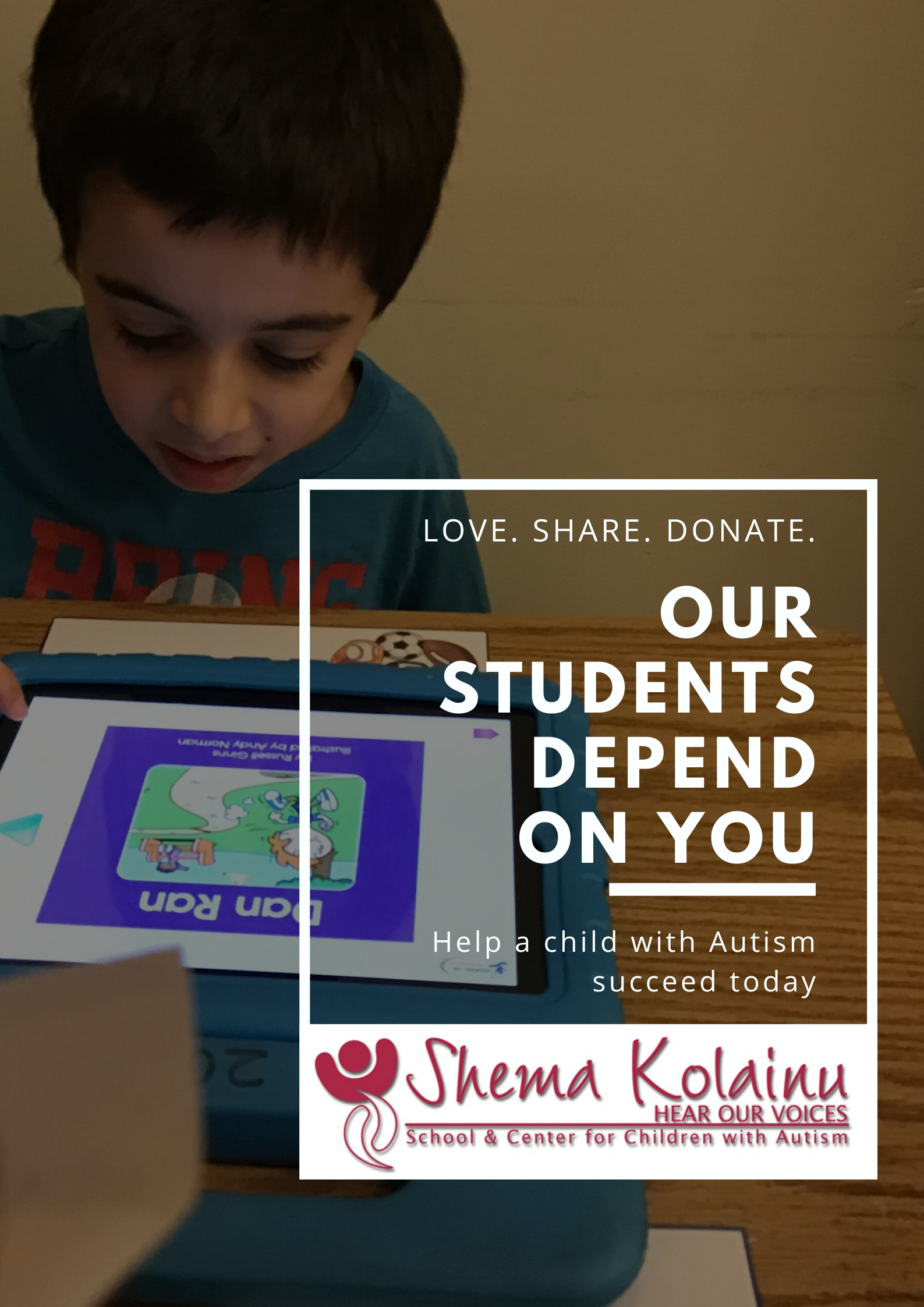 In the face of COVID-19, Shema Kolainu - Hear Our Voices works to inspire the community and serve autistic children and young adults remotely.