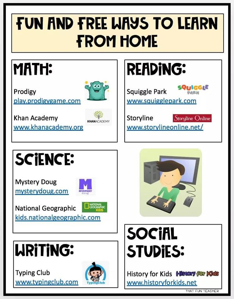 free ways to learn from home