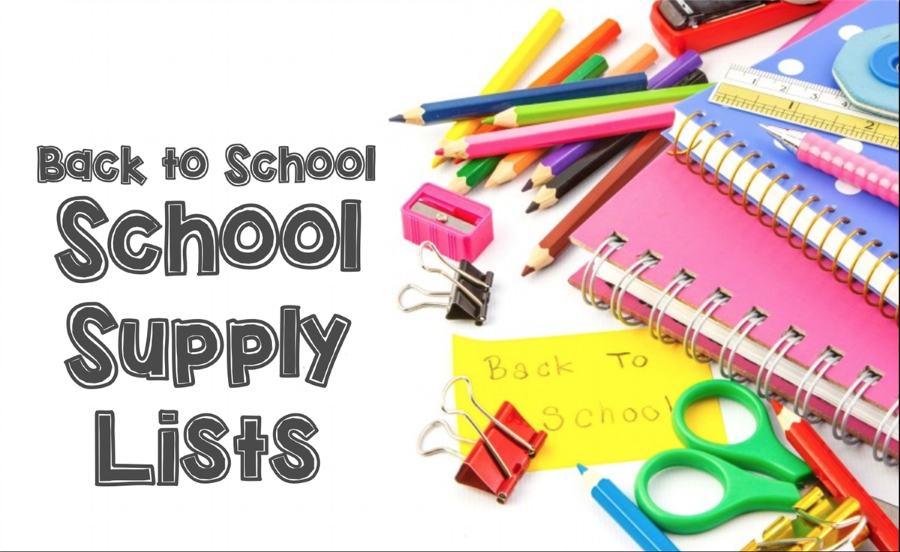 Back to School School Supply Clip Art