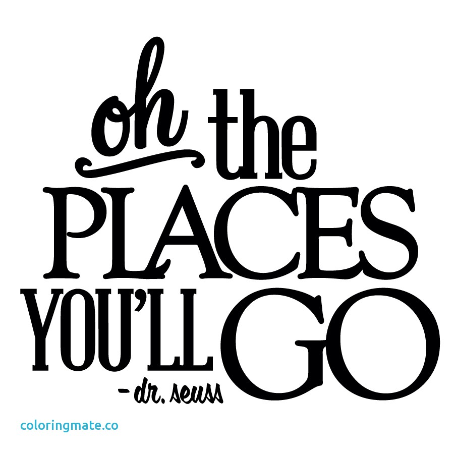 The places you will go - Dr. Suess