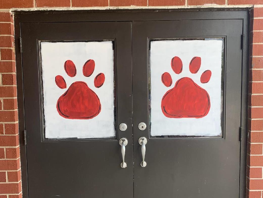 pawprints on doors