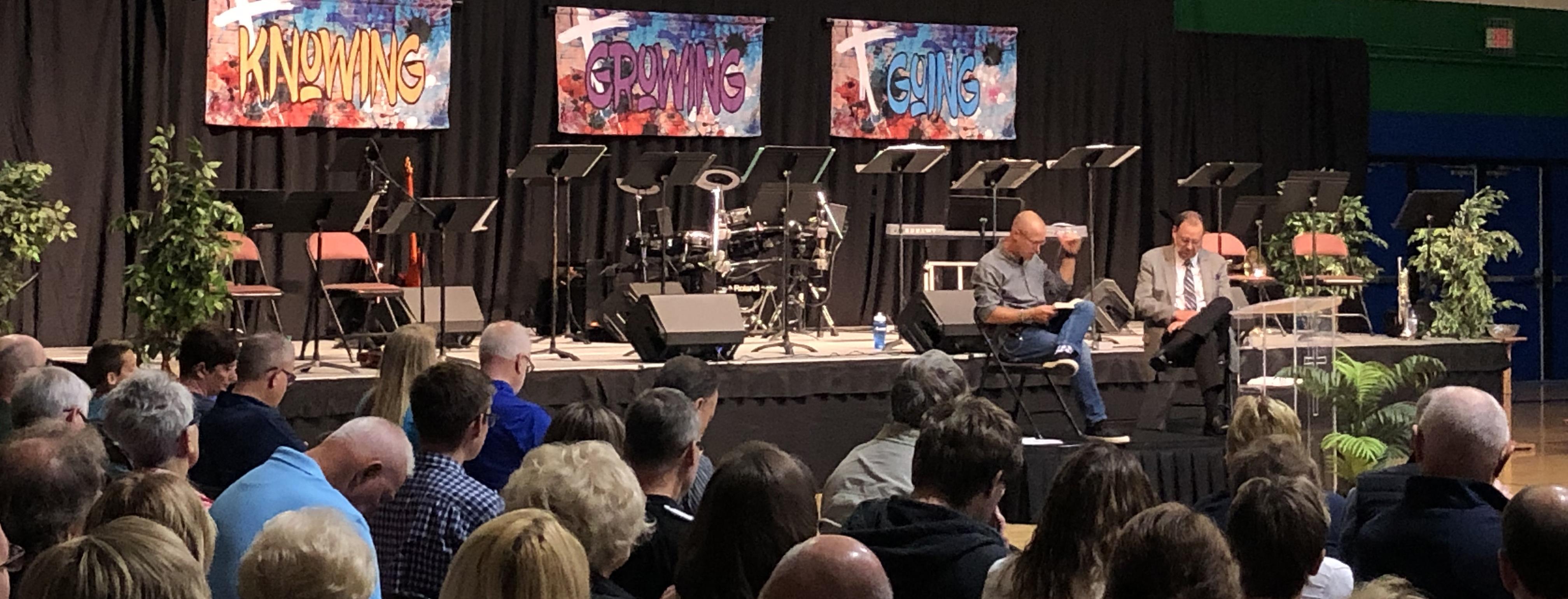 Contemporary Worship Service - Gym Photo