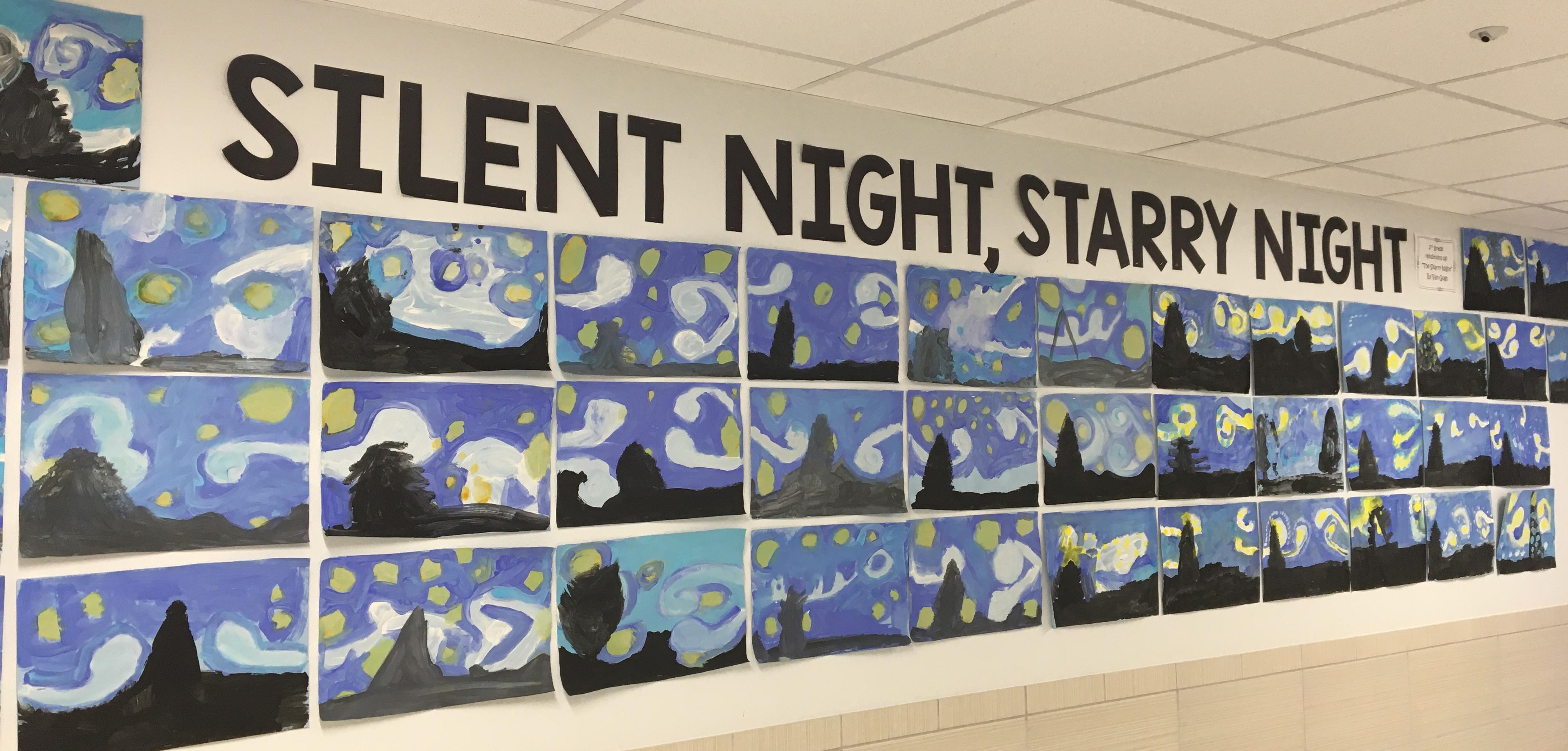 Starry Night Elementary Art