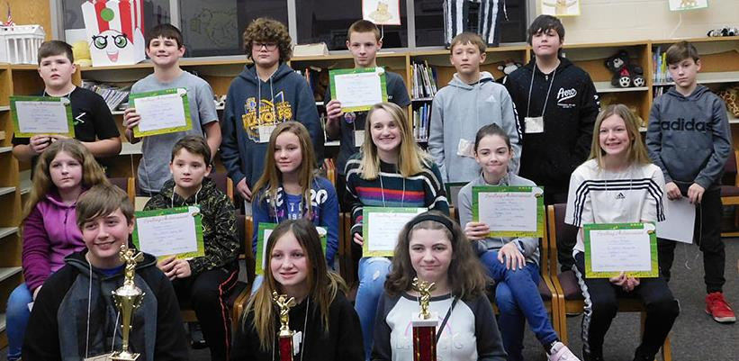 January 30, 2020 Spelling Bee Participants