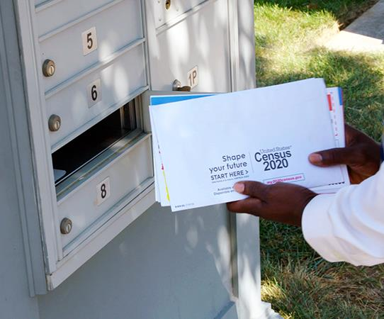 Image of Census and mailbox.